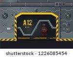 futuristic spaceship wall with... | Shutterstock .eps vector #1226085454