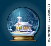 Winter Snow Globe With A...