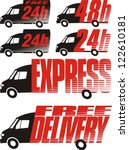delivery icon   shipping | Shutterstock .eps vector #122610181