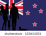 the flag of new zealand with... | Shutterstock .eps vector #122611021