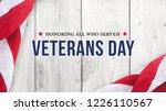 veterans day banner sign  ... | Shutterstock . vector #1226110567