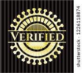 verified gold shiny emblem | Shutterstock .eps vector #1226118874