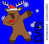 dab dabbing pose deer kid xmas... | Shutterstock .eps vector #1226121001