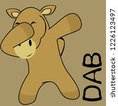 dab dabbing pose camel kid... | Shutterstock .eps vector #1226123497