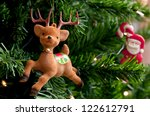 Reindeer With Santa Claus On A...
