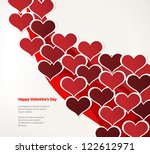 design template   eps10 heart... | Shutterstock .eps vector #122612971