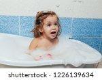 fun cheerful happy toddler baby ...   Shutterstock . vector #1226139634