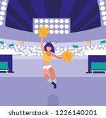 cheerleader entertaining design | Shutterstock .eps vector #1226140201