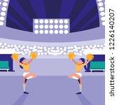 cheerleader entertaining design | Shutterstock .eps vector #1226140207