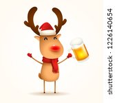 the red nosed reindeer with... | Shutterstock .eps vector #1226140654