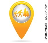 hiking icon illustration... | Shutterstock .eps vector #1226143924