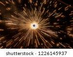 firecracker spinning on the... | Shutterstock . vector #1226145937