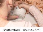 young girl making creative...   Shutterstock . vector #1226152774