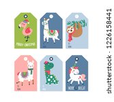 christmas holiday cute gift... | Shutterstock .eps vector #1226158441