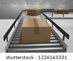 cartons running on a conveyor... | Shutterstock . vector #1226163331