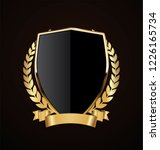 golden shield retro design | Shutterstock .eps vector #1226165734