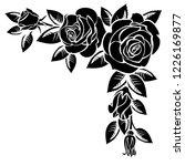 corner of roses on a white... | Shutterstock . vector #1226169877