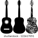 black silhouette of acoustic...