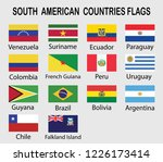 south american countries flags... | Shutterstock .eps vector #1226173414