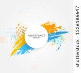 modern abstract border  frame... | Shutterstock .eps vector #1226186647