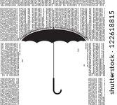 vector umbrella silhouette with ... | Shutterstock .eps vector #122618815