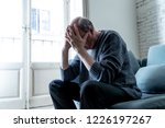 overwhelmed old senior man... | Shutterstock . vector #1226197267