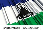 abstract flag of lesotho . 3d... | Shutterstock . vector #1226200834