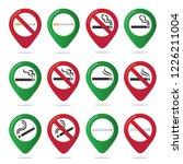 16 no smoking and smoking area... | Shutterstock .eps vector #1226211004