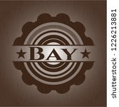 bay badge with wooden background | Shutterstock .eps vector #1226213881