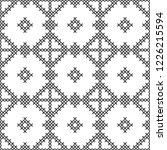 cross stitch  seamless...   Shutterstock .eps vector #1226215594
