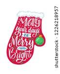 mitten. merry christmas vector... | Shutterstock .eps vector #1226218957