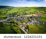 aerial view above houses  an... | Shutterstock . vector #1226221231