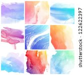 set of colorful abstract water... | Shutterstock . vector #122622397