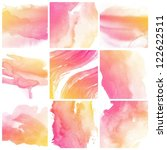 set of colorful abstract water... | Shutterstock . vector #122622511