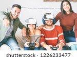 happy millennials friends...   Shutterstock . vector #1226233477