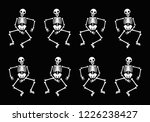 dancing skeletons pattern  | Shutterstock .eps vector #1226238427