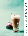 glass of latte macchiato with... | Shutterstock . vector #1226241427