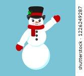 snowman christmas vector... | Shutterstock .eps vector #1226249287