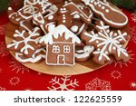 Plate Of Christmas Gingerbread...