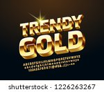 vector chic 3d alphabet. golden ... | Shutterstock .eps vector #1226263267