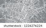 urban vector city map of turin  ... | Shutterstock .eps vector #1226276224