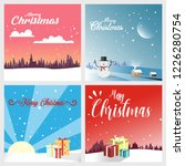 winter and christmas  ... | Shutterstock .eps vector #1226280754