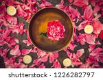 top view tibetan singing bowl... | Shutterstock . vector #1226282797