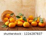 fresh mandarin oranges fruit or ... | Shutterstock . vector #1226287837