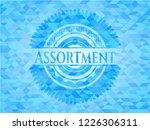 assortment sky blue mosaic... | Shutterstock .eps vector #1226306311