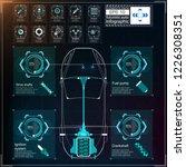 futuristic user interface. hud...