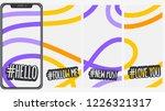 abstract  social media stories... | Shutterstock .eps vector #1226321317