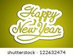 'happy new year' handmade... | Shutterstock .eps vector #122632474