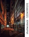 dark and eerie downtown urban...   Shutterstock . vector #1226330131
