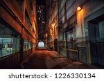 dark and eerie downtown urban...   Shutterstock . vector #1226330134
